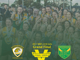 Wyndhamvale U/18 Girls Complete 2017 Undefeated After Winning Grand Final