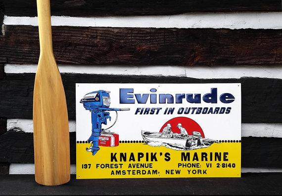 Vintage Evinrude Sign