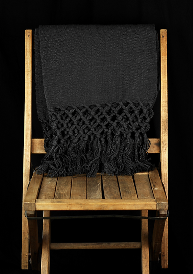 Chilmark Charcoal Knitted Throw