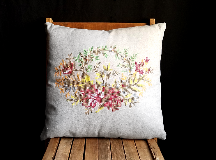 Tapoco Embroidered Square Pillow