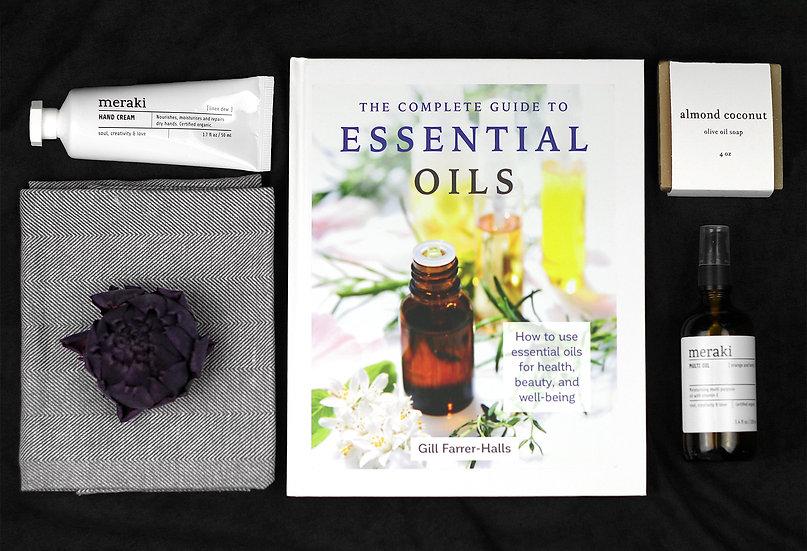 Beautiful Essential Oils Gift Basket