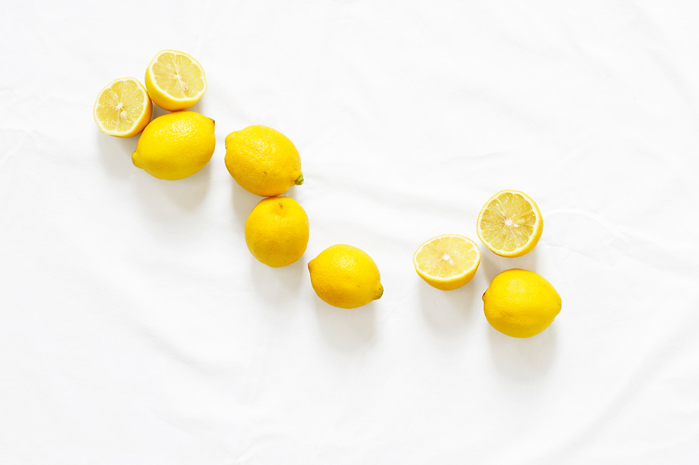 Fresh cut lemons used as all-natural cleaning agent.