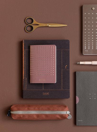GRIDDED | Notebook, Burgundy