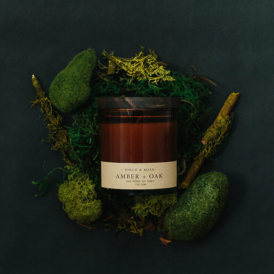 roote AMBER + OAK | Soy Apothecary Candle