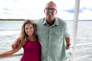 Elizabeth & Robert on a boat ride to Daufuskie Island