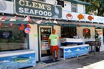 Robert at the Carolina Coast infront of Clem's Seafood Store