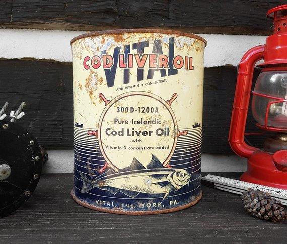 Vintage Cod Liver Oil Can