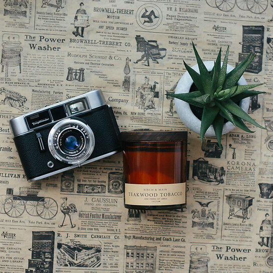 roote TEAKWOOD TOBACCO | Soy Apothecary Candle