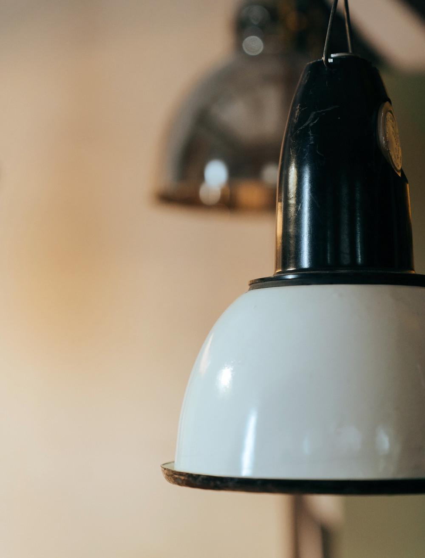 Beautifully warm vintage porcelain light globes.