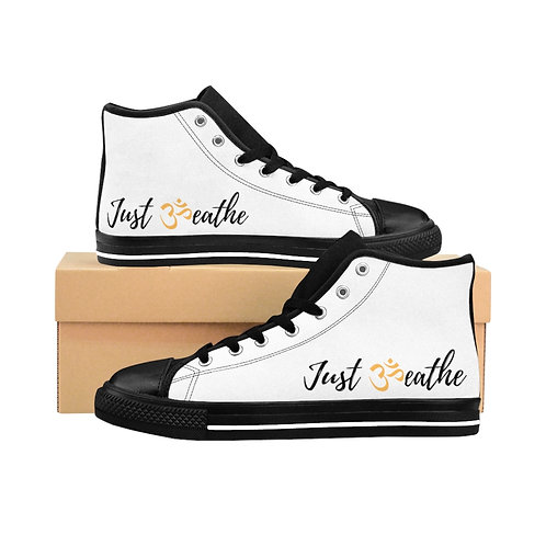 Women's White Just Breathe High-top Sneakers