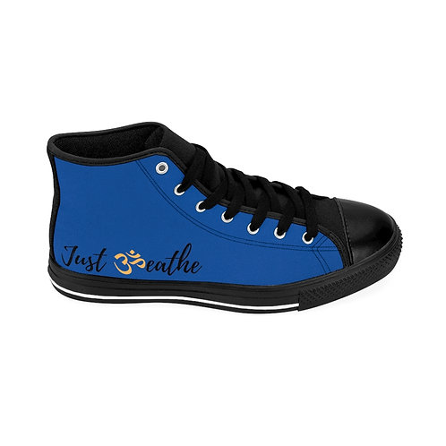 Blue Men's Just Breathe High-top Sneakers