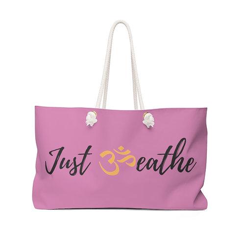 Magenta Just Breathe Weekender Bag