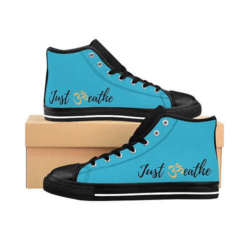 Women's Turquoise Just Breathe High-top Sneakers