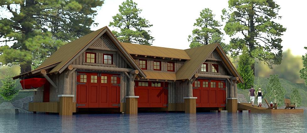 ... HADDEN doors ... & adirondackcampdesign | Camp Polaris Boathouse