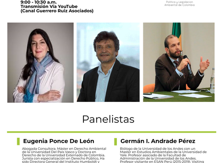 """Coloquios Aislados de Derecho Ambiental Sesión 7 """"El Régimen de las Áreas Protegidas en Colombia"""""""