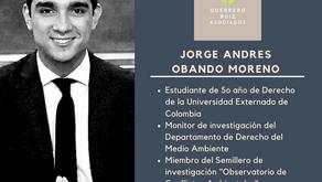 Bienvenido Jorge Andrés Obando: Nuevo Paralegal en Guerrero Ruiz Asociados