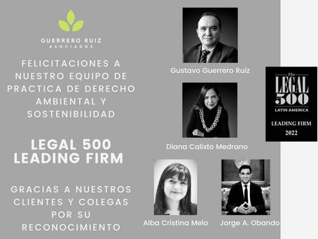 Guerrero Ruiz Asociados es firma líder en la práctica del derecho ambiental en Colombia: Legal 500