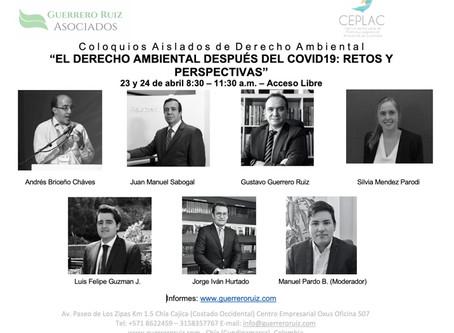 """Participe en los Coloquios Aislados de Derecho Ambiental """"El Derecho Ambiental después del COVID19"""""""