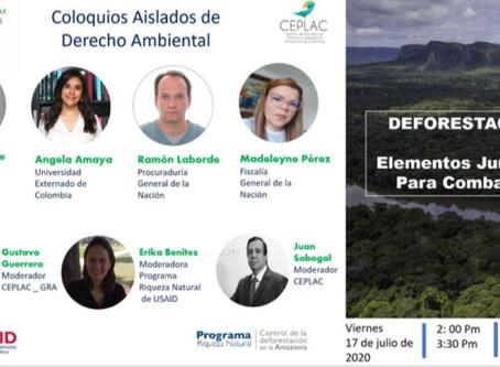 """Coloquios Aislados de Derecho Ambiental (9) """"Deforestación: Elementos jurídicos para combatirla"""""""