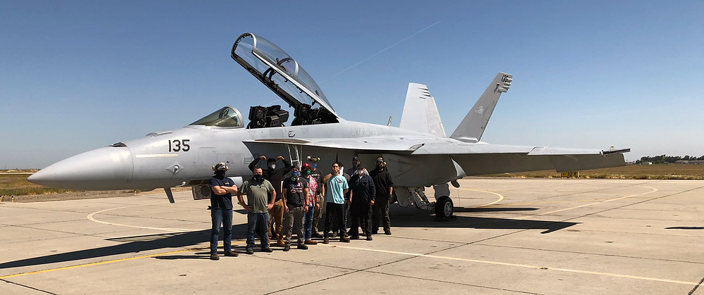 The dedicated team professionals at the Naval Aviation Maintenance Center for Excellence (NAMCE) returned this F/A-18F to VFA-122 after an eight-year layoff.  NAMCE crews have returned 16 long-term down aircraft to service, helping boost readiness for VFA squadrons at NAS Lemoore.