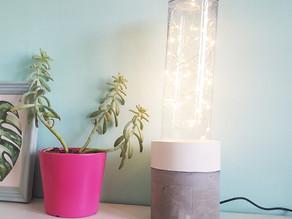 איך להכין מנורה עם בסיס בטון
