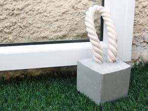 How to make concrete door stopper – DIY