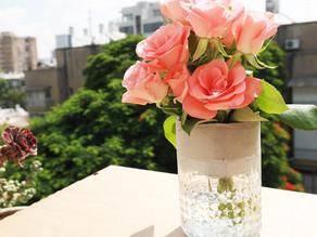 How to make Flower vase half glass half concrete