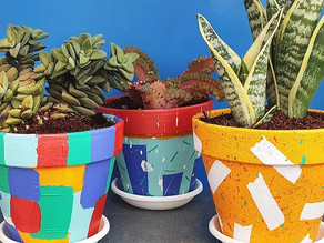 How to make beautiful DIY Painted Plant Pots Tutorial