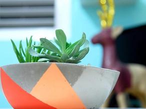 How to make round concrete planter – DIY