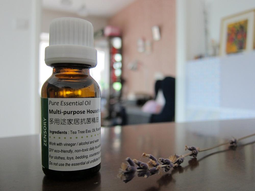 白醋加入抗菌精油, 加強抗菌防蟲之餘, 更為家居帶來一股清新氣息