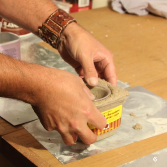 taper con cemento y taper en el centro