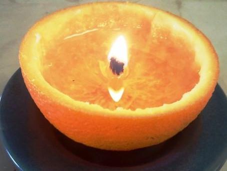 Para el resfriado: velas de mandarina
