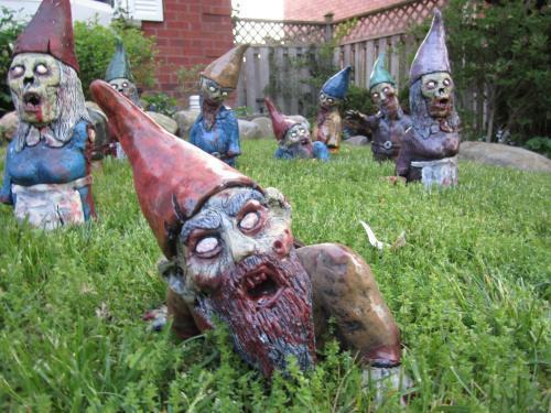 zombis en el jardín