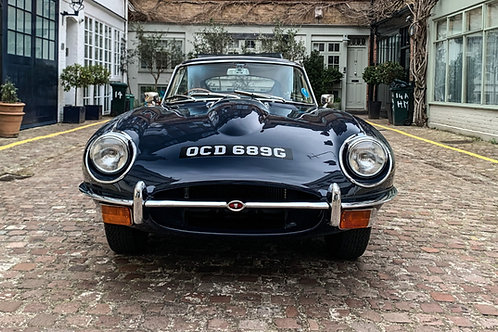 E Type 1969 Series 2 Winner Best Jaguar Sports Car Hampton Court Concours 2019