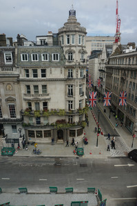View from Bennett house of Jermyn Street, across, St James`s Street, London
