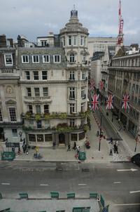 View from Bennett house of Jermyn Street, across, St James`s Street, London