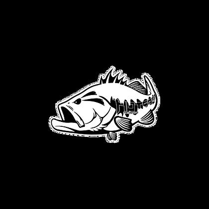 Sticker Black Bass cm 30x20