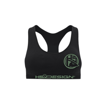 Sport Bra HSD green logo