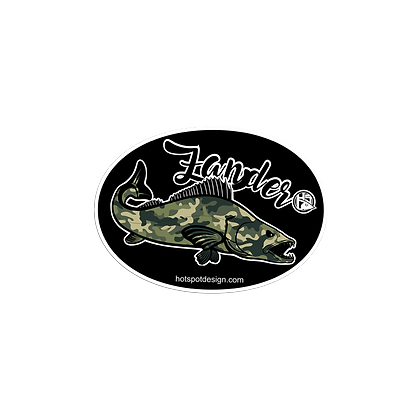 Sticker Zander Fishing