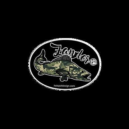 Sticker Zander Fishing