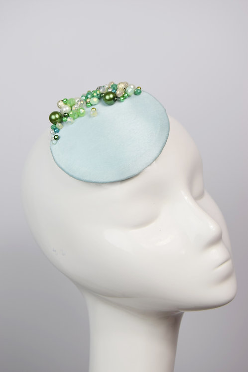 Atlantia: Seafoam Round Fascinator