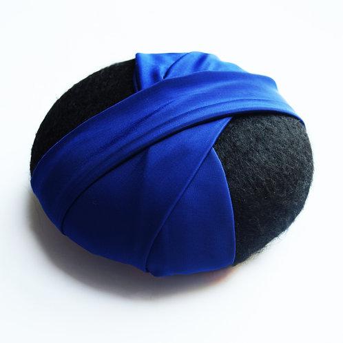 Caroline: Pillbox Hat, Midnight Blue