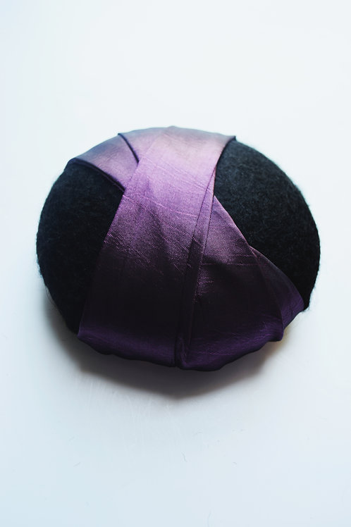 Caroline: Pillbox Hat, Bright Purple