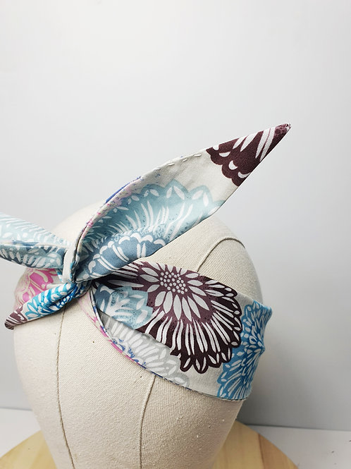 Cotton Wired Headscarf: Tie-Dye Pattern