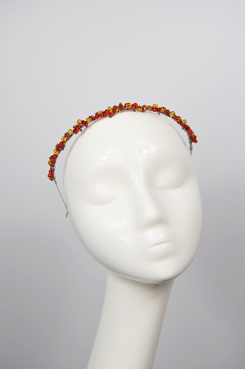 Theia Tiara, Red Jasper
