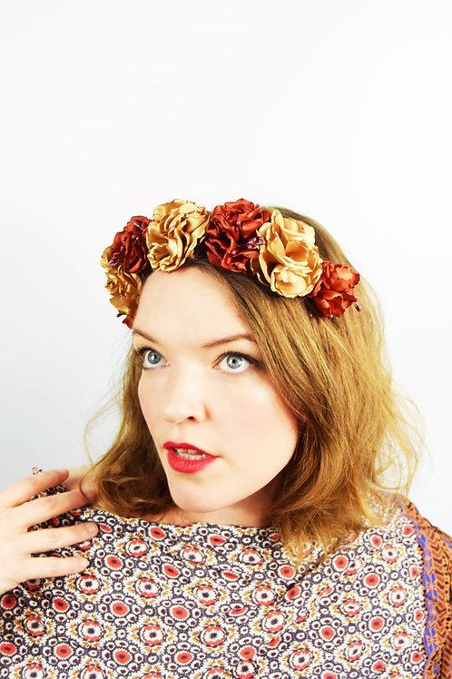 Florita: Burnt Gold Floral Crown