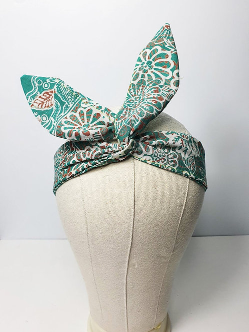 Cotton Wired Headscarf: Batik Pattern