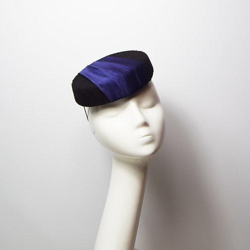Cadeux: Pillbox Hat,Navy Blue