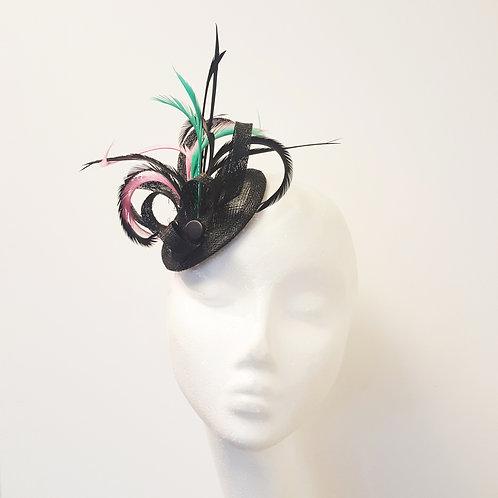 Hettie: Black Feather Fascinator