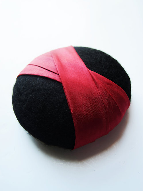 Caroline: Pillbox Hat, Bright Red